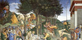 As provações de Moisés - afresco de Sandro Botticelli (1481-1482)