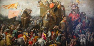 Batalha de Zama, por Cornelis Cort (1567).